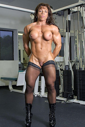 Beautiful body older muscle women