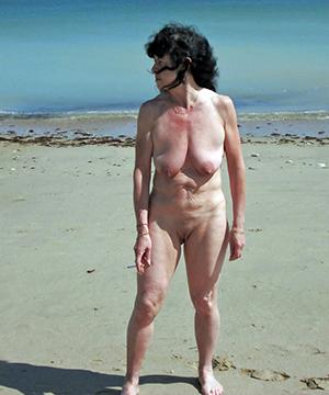 Naughty nude mature women outdoors