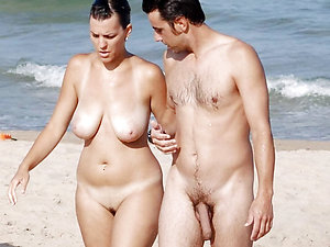Upfront nude beach couples