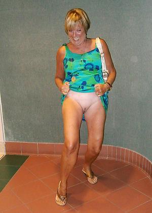Horny upskirt mature women