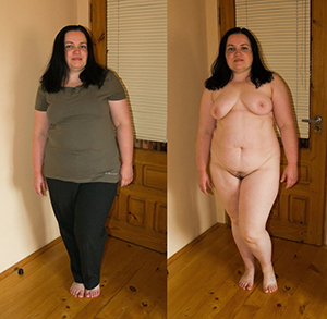 Nude mature before and after