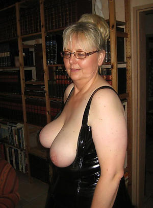 Busty in the buff of age