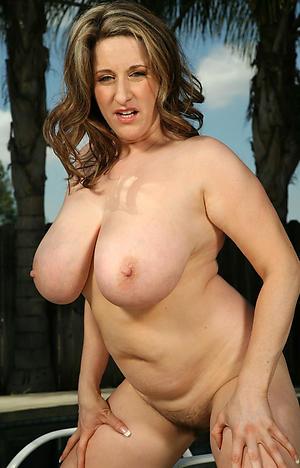Uncover mature big saggy tits pics