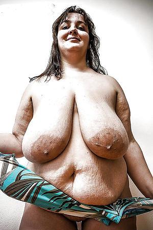 Slutty huge saggy tits matured