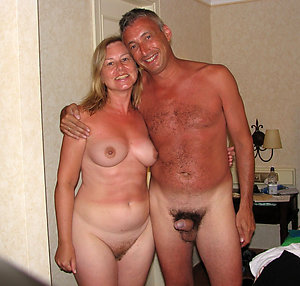 Nude cute couple poses for pictures