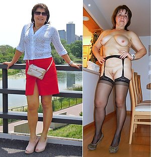 Sexy mature dressed undressed pictures