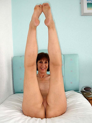 Cute white mature women feet