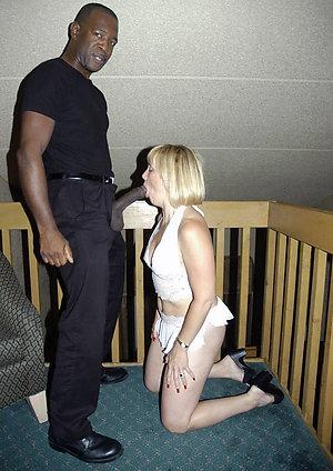 Naughty mature interracial blowjob pics