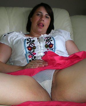 First-timer old women in wet panties
