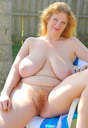 Slutty redhead naked older women stripped
