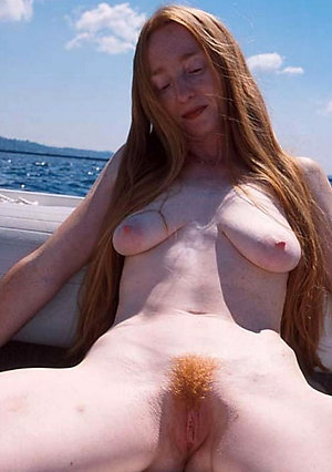 Wonderful redhead mature porn photos