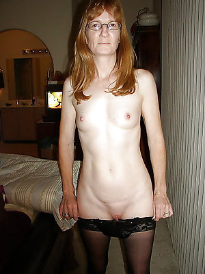 Skinny older women small tits photos