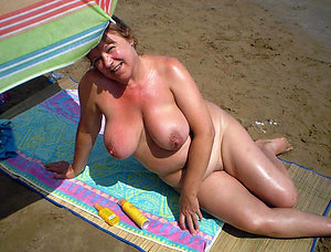 Pretty naked mature beach