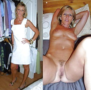 Sexy mature lady before and after