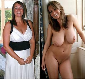 Amateur mature before together with after porn pics