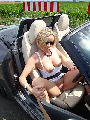 Busty mature far car unshod photo