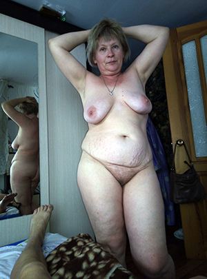 Naughty chubby older wife naked