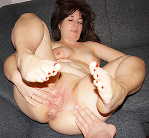 Sweet old milf nylon feet