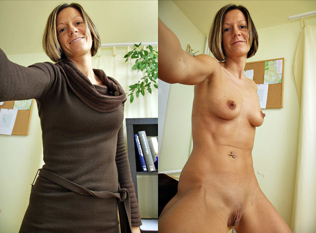 Mature wife undressing